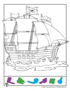 Pirate Ship Hidden Pictures