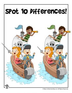 Pirate Game - Spot the Differences