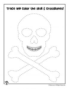 Pirate Tracing Worksheet