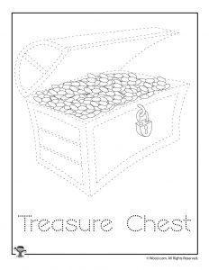Pirate Treasure Letter Tracing Worksheet