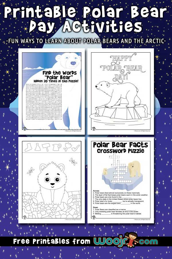 Polar Bear Day Activities to Print