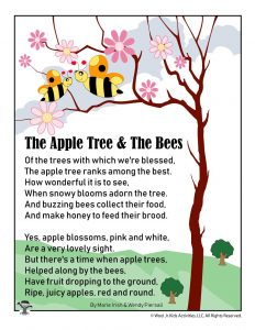 The Apple Tree & The Bees Poem for Kids