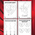 Preschool Valentine Worksheets for Fine Motor Skills