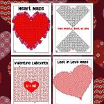 Heart Mazes for Valentine's Day