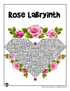 Roses Labyrinth Maze Activity