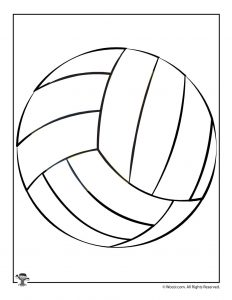 Volleyball Craft Pattern