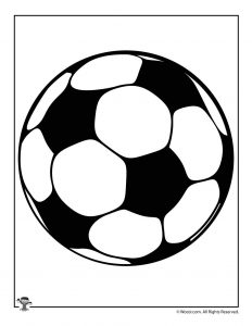 Soccer Ball Printable Shape
