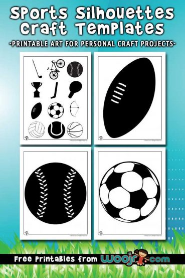 Sports Silhouettes Craft Templates