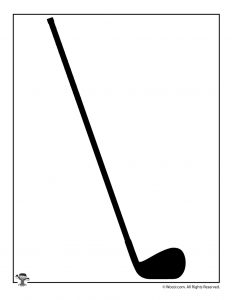 Golf Club Printable Shape
