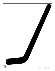 Hockey Stick Silhouette