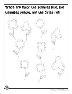 Spring Shape Recognition Activity Page