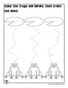 Spring Tracing Preschool Worksheet