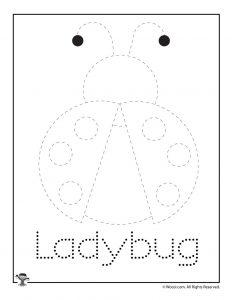 Ladybug Spring Letter Tracing Printable
