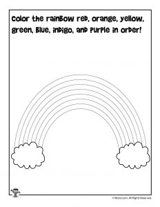 Color the Rainbow ROYGBIV Activity Page