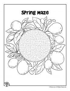 Spring Lemons Printable Maze