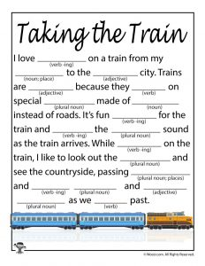 Taking the Train Mad Libs
