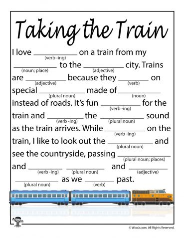 Travel Ad Libs for Kids