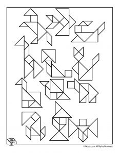 Printable Tangram Puzzles Answer Key