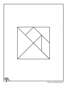 Color Your Own Printable Tangram Puzzle Pieces