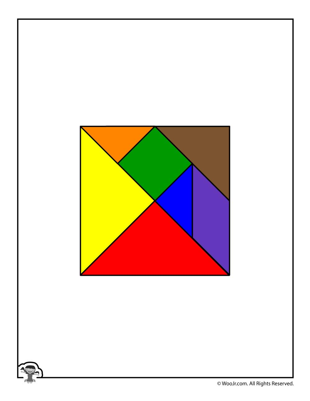 image relating to Printable Tangram known as Printable Tangram Puzzle Areas Woo! Jr. Little ones Actions