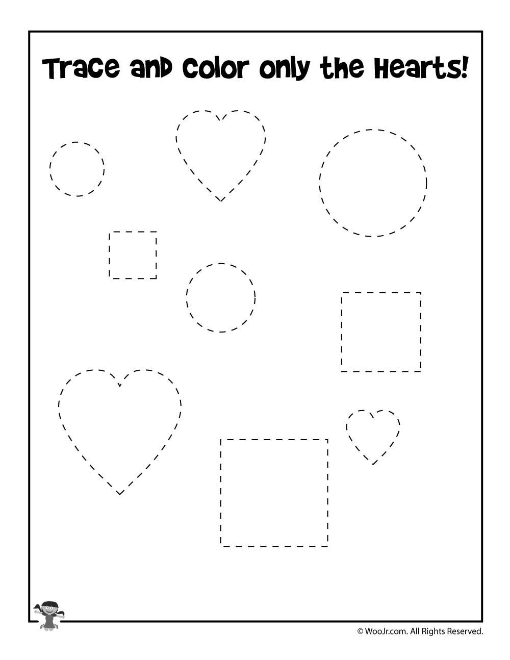 valentine shape recognition worksheet woo jr kids activities. Black Bedroom Furniture Sets. Home Design Ideas