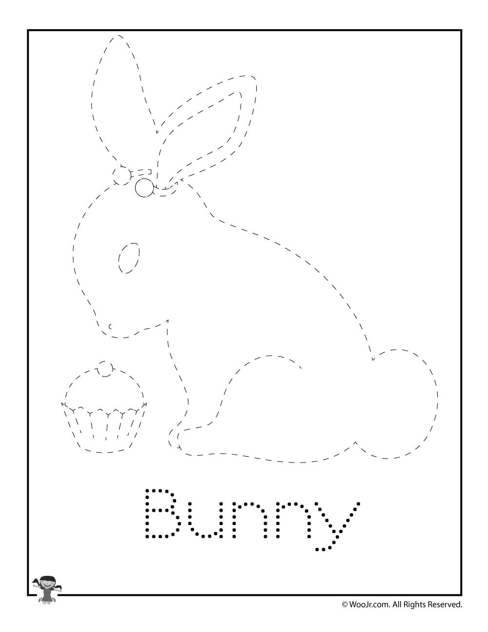 Bunny Letter Tracing Page Woo