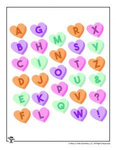 Valentine Printable Alphabet Letters
