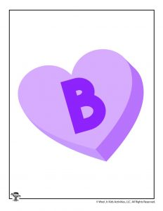 Conversation Heart Letter B