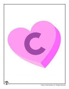 Conversation Heart Letter C