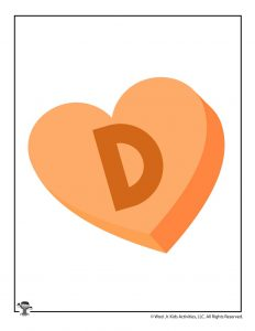 Conversation Heart Letter D
