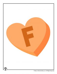 Conversation Heart Letter F