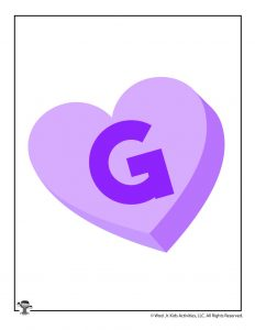 Conversation Heart Letter G