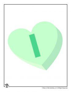 Conversation Heart Letter I