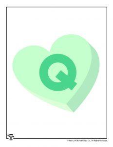 Conversation Heart Letter Q