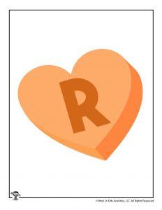 Conversation Heart Letter R