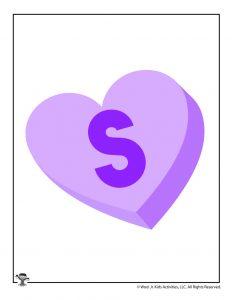 Conversation Heart Letter S