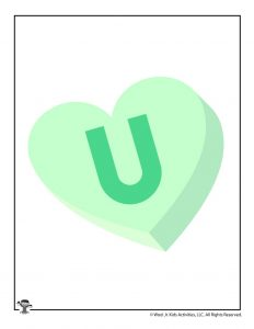 Conversation Heart Letter U