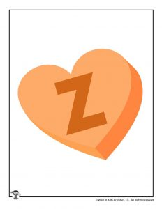 Conversation Heart Letter Z
