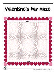 Valentine's Day Mazes for Kids