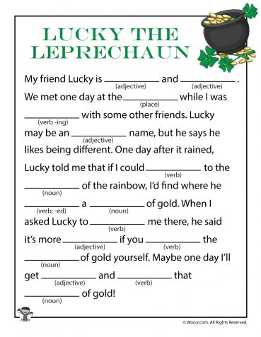 St. Patrick's Day Ad Libs for Kids