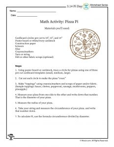 Pizza Pi Math Activity Instructions