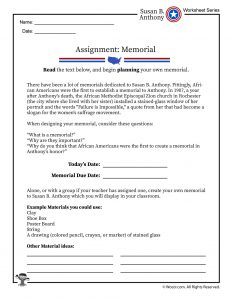 Susan B Anthony Memorial Group Project