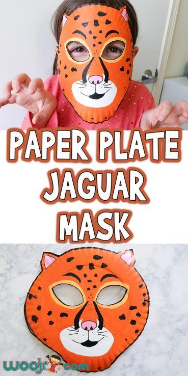 Paper Plate Jaguar Mask