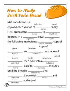 Make Irish Soda Bread Ad Libs for Kids