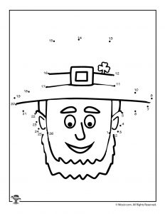 Leprechaun Dot to Dot Printable