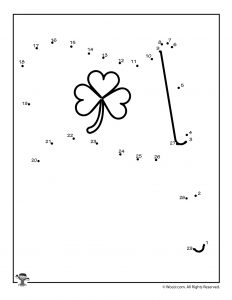 Shamrock Flag Dot to Dots Worksheet