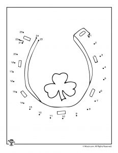Lucky Horseshoe Connect the Dots Activity