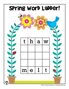 Spring Word Ladder Activity