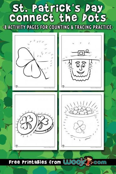 St. Patrick's Day Connect the Dots Printables