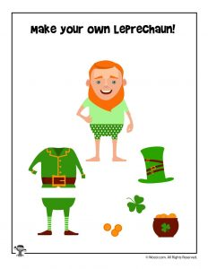 Cut and Paste Leprechaun Activity